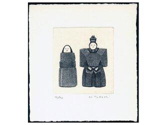 ひな人形 ・ C / 銅版画 (額なし)の画像
