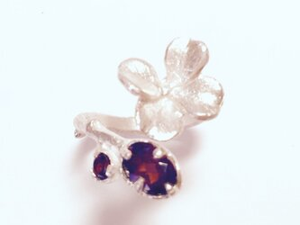 Clover Ring  < Garnet × SV925 >の画像