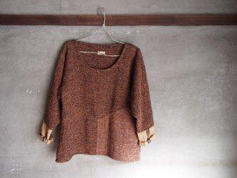手織り/wool sweater ▽くるみとあんず (+orimi)の画像