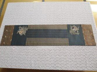 B♪花hana花♪パッチワーク帯テーブルセンターの画像