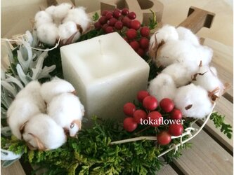 toka*winter fragrance キャンドルリース  #94の画像