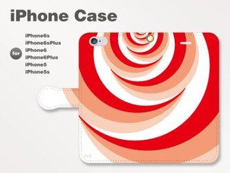 iPhone7/7Plus/SE/6s/6sPlus他 スマホケース手帳型 北欧-花-薔薇-ばら-バラ レッド赤2807の画像