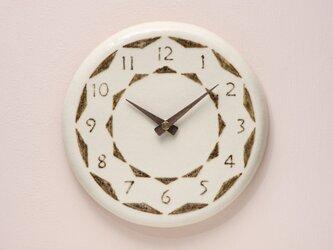 陶製掛け時計φ210の画像