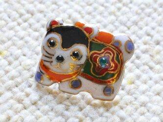 七宝焼ピンブローチ(ピンバッジ,ピンズ)  犬張り子の画像