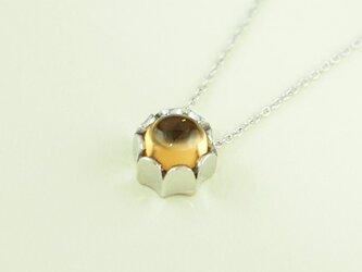 ネックレス クラウンボール(Silver、シトリン)の画像