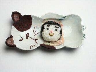 猫の皿 /磁器 /陶芸家 /可愛いこども食器 /キッズ食器 /potteryの画像
