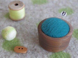 羊毛ピンクッション【針山】青色の画像