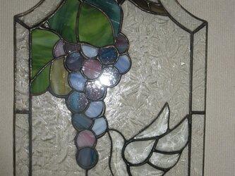 ステンドパネル(葡萄をついばむ鳥)の画像