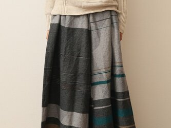 wide pants LONG wool70% cotton30%の画像