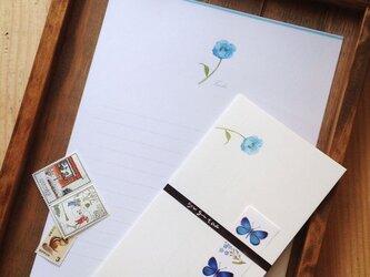 ヒマラヤの青い芥子 便箋の画像