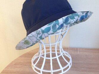 オーダー リバティ雨帽子 リバーシブルレインハットの画像