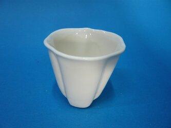 白磁お茶の花湯のみの画像