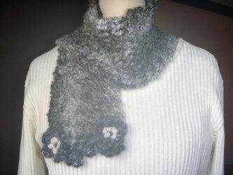 ベルギー製毛糸★シャム猫カラーのマフラー♪の画像