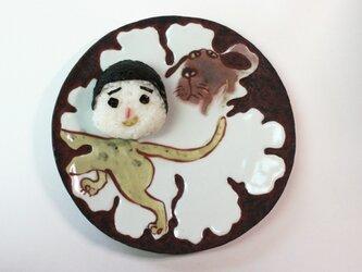 犬と虎のお皿 /磁器 /犬の皿 /陶芸家/キッズ食器/可愛い子ども食器/potteryの画像