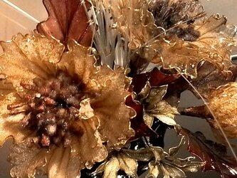 クリスマス~正月/冬のアメリカンフラワー/デイップアートのアレンジの画像