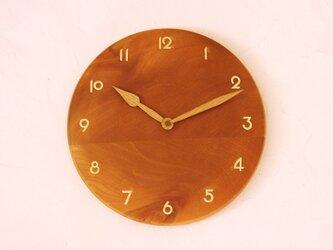 掛け時計 丸 けやき材21の画像