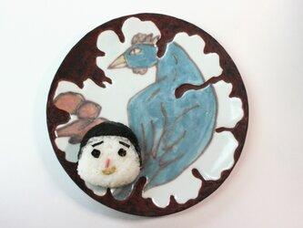 鳥の皿 /親子皿 /可愛い子ども食器 /磁器 /陶芸家 /キッズ食器 /ceramicの画像