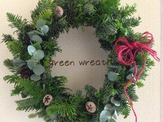 生のモミでgreen wreath グリーンリース①の画像