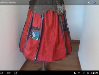 オリジナル…リバーシブル…スカート 一点品の画像