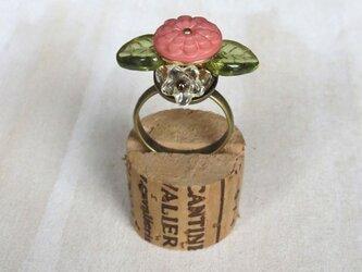 お花の指輪(ボタン)の画像