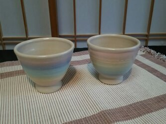 パステルレインボー夫婦茶碗(小)の画像