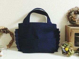 ミニプリーツバッグ(紺)の画像