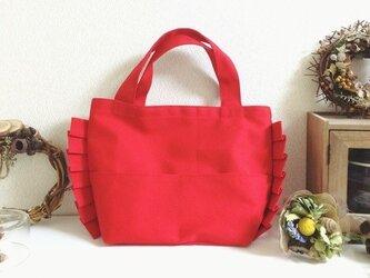 ミニプリーツバッグ(赤)の画像