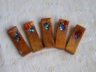 葡萄蒔絵 箸置き 5個1組の画像