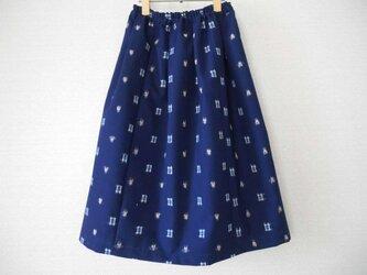 新品ウール着物地のスカートの画像
