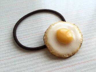 目玉焼き ヘアゴムの画像