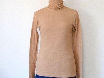 オーガニックコットン綿シフォン長袖Tシャツの画像