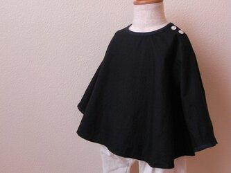 bi color シャツ *ブラック×ネイビー* size80 の画像