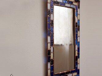 ステンドグラスミラー(ブルーモザイク)の画像
