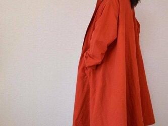 風よけコート 裾フレアー・オレンジ           ..3071の画像
