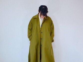 風よけコート 裾フレアー・オリーブ           ..3071の画像