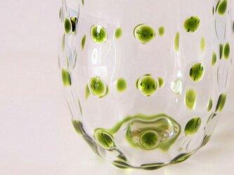 水玉グラス:ピスタチオ:プチの画像