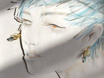 【noilmok】brass spiral~真鍮のピアス~の画像