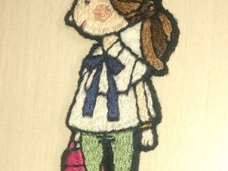 ☆御注文品☆リボンブラウスの女の子の画像