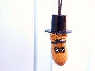 ピーナッツおじさん イニシャル入り蝶ネクタイネックレスの画像