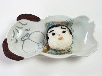 パグの皿 /犬の皿 /磁器 /陶芸家 /可愛いこども食器 /キッズ食器 /potteryの画像