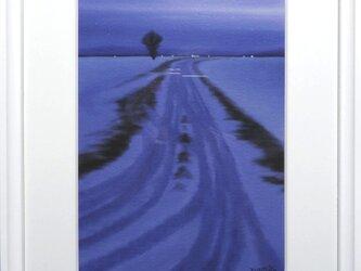CG版画「雪のあぜ道」の画像