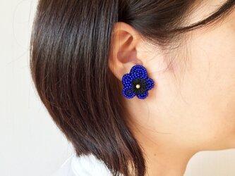 イヤリング〖青いお花〗の画像
