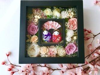 ご結婚のお祝いやプレゼントに♡プリザーブドフラワーのフレーム「受注制作」の画像