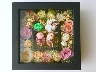 ご結婚のお祝いや敬老の日プレゼントに♡プリザーブドフラワーのフレーム「受注制作」の画像