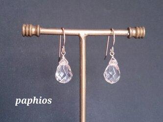 [ピアス・イヤリング] champagne quartzの画像