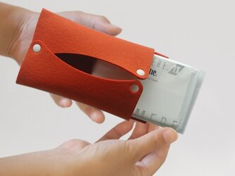 ポケットティッシュケース〈オレンジ〉の画像
