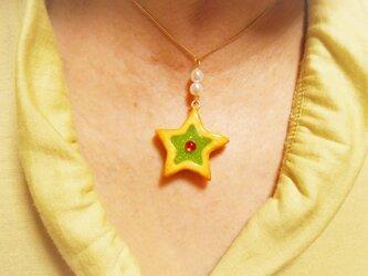 送料無料!!星のジャムサンドクッキーチャーム・グリーンの画像