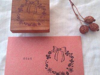 0095 柊(ひいらぎ)とお花のリース【OUTLET】の画像