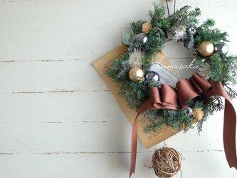 ビタークリスマスのリース*の画像