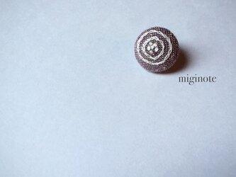 *花*小さい小さい刺繍ブローチ の画像